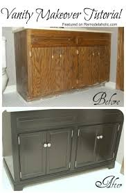Update Bathroom Vanity Remodelaholic Updating A Bathroom Vanity