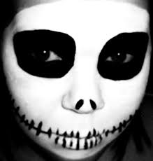 Nightmare Before Christmas Halloween Makeup by Jack Skellington Skull Halloween Makeup Vintage Or Tacky