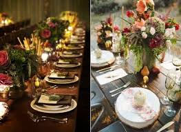 Fall Wedding Table Decor 62 Romantic Fall Wedding Tablescapes Happywedd Com