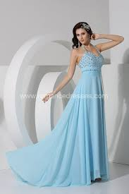 turmec light blue halter wedding dress