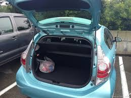 toyota prius luggage capacity the toyota prius c a car for city driving 30 day adventures