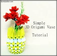 Simple Origami Vase - simple 3d origami vase tutorial platter