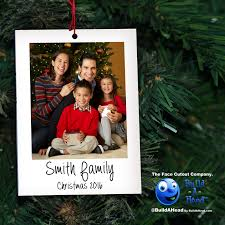 family protrait christmas ornament build a head