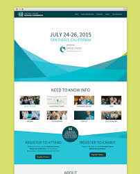 homepage design of ovarian cancer national conference website