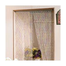 rideau de rideau de porte clara en perles surmoulées 90x220 cm clara