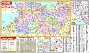 Rochester Ny Map Western New York State Wall Map Maps Com