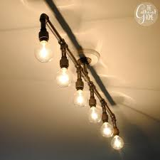 Bulb Light Fixture How To Make A Fabulous Plumbing Pipe Light Fixture