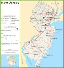 Map Of New York Harbor by New Jersey State Maps Usa Maps Of New Jersey Nj