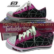 Sepatu Sketcher Anak Perempuan sepatu skechers twinkle toes sparkle glitz black pink bayi