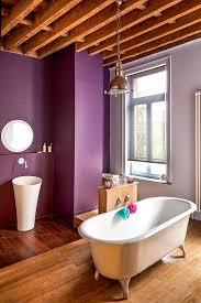 bathroom wood ceiling ideas bathrooms purple bathroom with oval bathtub and unique