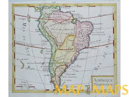 Brazil On South America Map by South America Old Antique Map Vaugondy 1750 Mapandmaps