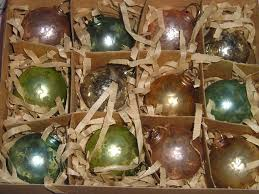 glass tree ornaments lights decoration