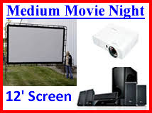 Backyard Movie Night Rental Large Outdoor Movie Night Denver Colorado Small Projection