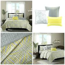 Coverlet Sets Bedding Bedding Design Compact Gray And Yellow Bedding Set Bedroom