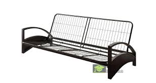 full sized metal futon frame with arm rest