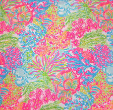 2016 lilly pulitzer dobby cotton fabric multi lovers coral 27