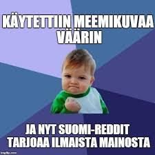 Suomi Memes - success kid meme imgflip