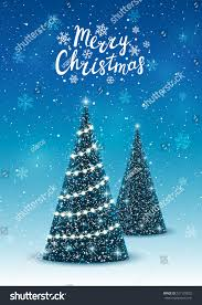 christmas trees on shiny blue background stock vector 527129020