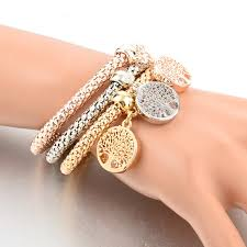 woman charm bracelet images Austrian rhinestones gold color tree of life charm bracelets for jpg