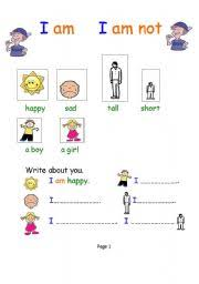 esl kids worksheets verb to be for young learners