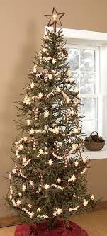 primitive tree with handmade ornaments