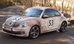 volkswagen beetle race car apocalyptic herbie beetle rust wrap skepple inc
