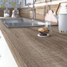cuisine plan de travail plan de travail stratifié bois inox au meilleur prix leroy