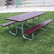 heavy duty picnic table long draffin