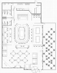 luxury idea restaurant open kitchen layout kitchen and decoration