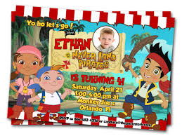 jake neverland pirates invitations printable boys