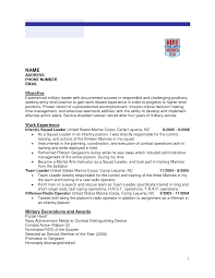 Us Resume Samples by Infantry Resume Free Excel Templates