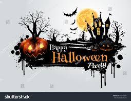 halloween vector background halloween pumpkins dark castle on full stock vector 491435899