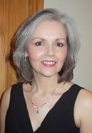 grey hair in 40 s medium hair styles for women over 40 photograph courtesy of