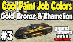 gta online cool paint job guide 3 bronze gold khamelion