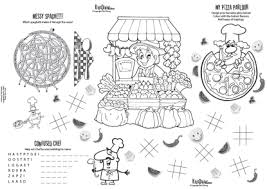 kids placemats kids menu paper placemats for restaurants by kids dining