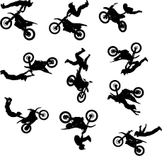 motocross dirt bike wall decal sticker set of ten dirt biking motocross dirt bike wall decal sticker set of ten