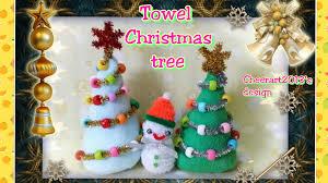 towel fold craft diy towel pipe cleaner christmas tree