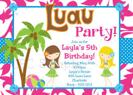 Printable Birthday Party Invitation Cards Birthday Invites Beautiful Luau Birthday Invitations Ideas