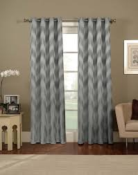 wall decor white and gray chevron curtains with black finial