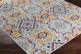 surya mavrick mav 7024 beige light grey gold burgundy teal area rug