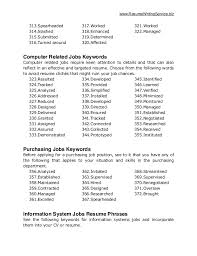 Resume Keywords List By Industry by Keywords For Cv Cerescoffee Co