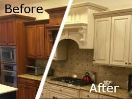Kitchen Cabinet Renewal Refinishing Cabinets Before And After Functionalities Net