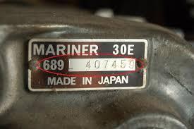 marinshopen se u003e motorguiden u003e fastställ motornummer u003e mariner