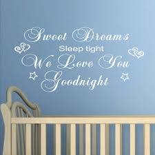 bedroom wall art stickers quotes home design ideas aliexpress com buy sweet dreams wall sticker quotes art mural bedroom love you goodnight