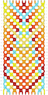 bracelet friendship pattern images Normal friendship bracelet pattern 6571 svg