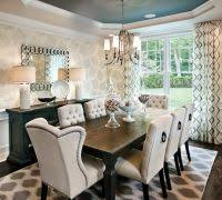nailhead dining chairs dining room mediterranean with upholstered
