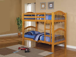 Kids Bedroom Furniture Bunk Beds Kids Bedroom With Brown Oak Wooden Bunk Bed And Plaid Pattern Rug