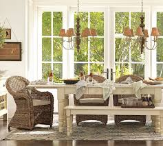 pottery barn farmhouse table pottery barn torrey armchair copycatchic