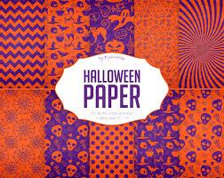 halloween digital paper halloween paper pattern or pumpkin