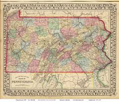 Map Of New York And Pennsylvania by Old Maps Of Pennsylvania